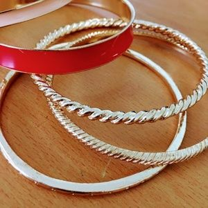 New Red and Gold Bangles Set